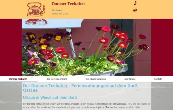 Vorschau von darsser-teekaten.de, Ferienwohnungen Darsser Teekaten