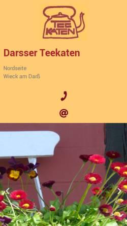 Vorschau der mobilen Webseite darsser-teekaten.de, Ferienwohnungen Darsser Teekaten