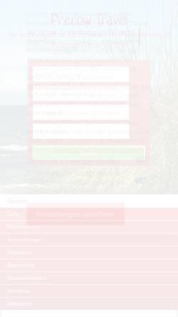 Vorschau der mobilen Webseite www.prerow-travel.de, Prerow Travel, Inhaber Thomas Stein