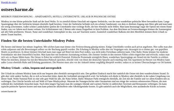 Vorschau von www.ostseecharme.de, Webcams im Ostseebad Prerow