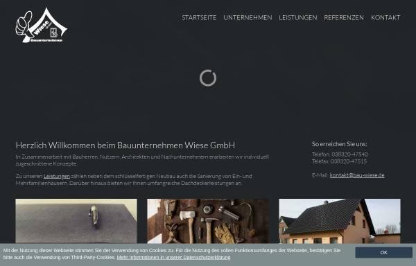 Vorschau von www.bau-wiese.de, Bauunternehmen Wiese GmbH