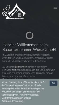 Vorschau der mobilen Webseite www.bau-wiese.de, Bauunternehmen Wiese GmbH
