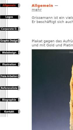 Vorschau der mobilen Webseite www.grissemanndesign.com, Grissemann, Otmar