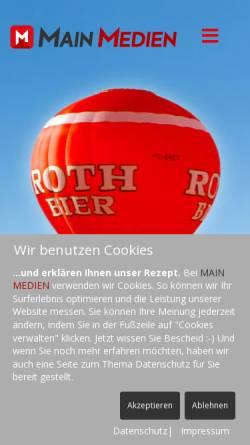 Vorschau der mobilen Webseite www.main-medien.de, MAIN MEDIEN
