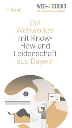 Vorschau der mobilen Webseite www.web-4.eu, WEB-4 STUDIO, Nadine Röhler