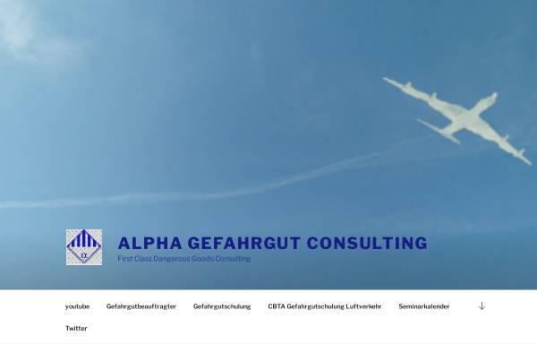 Vorschau von www.alpha-gefahrgut-consulting.de, Alpha Gefahrgut Consulting