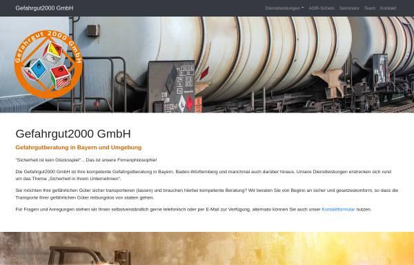 Vorschau von www.gefahrgut2000.de, Gefahrgut2000 - Gefahrgutberatung - Susann Miller