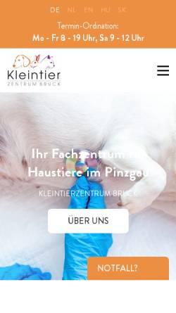 Vorschau der mobilen Webseite www.kleintierpraxis.co.at, Kleintierpraxis Dr. med. vet. Juraj Lieskovsky
