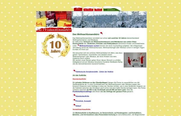 Vorschau von www.weihnachtsmannbuero.de, Weihnachtsmannbüro - Sascha Birr