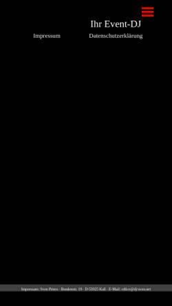 Vorschau der mobilen Webseite dj-sven.com, DJ Sven