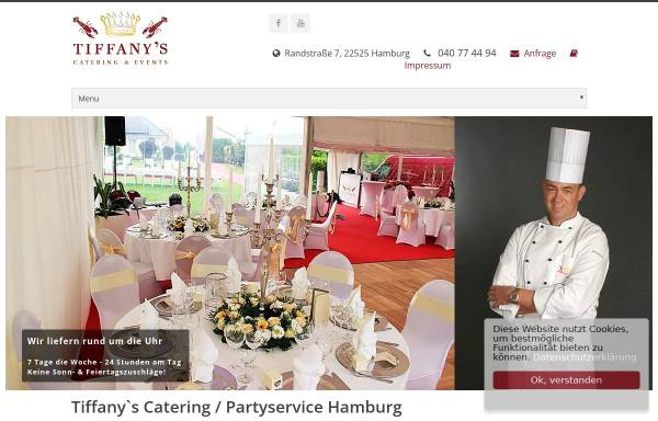 Vorschau von www.tiffanys-catering-hamburg.de, Tiffany's Catering & Events e.K.