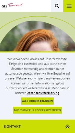 Vorschau der mobilen Webseite www.gls-treuhand.de, GLS Treuhand e.V.