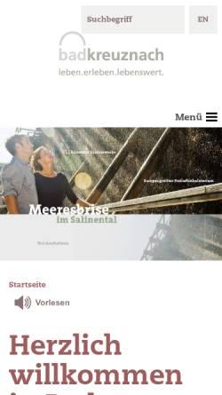 Vorschau der mobilen Webseite www.bad-kreuznach-tourist.de, Gesundheit und Tourismus für Bad Kreuznach