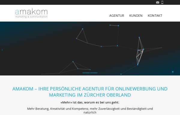 Vorschau von www.amakom.ch, Amakom - Agentur für Marketing und Kommunikation