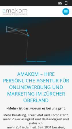 Vorschau der mobilen Webseite www.amakom.ch, Amakom - Agentur für Marketing und Kommunikation