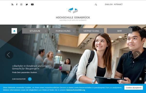 Vorschau von www.hs-osnabrueck.de, Hochschule Osnabrück