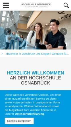 Vorschau der mobilen Webseite www.hs-osnabrueck.de, Hochschule Osnabrück
