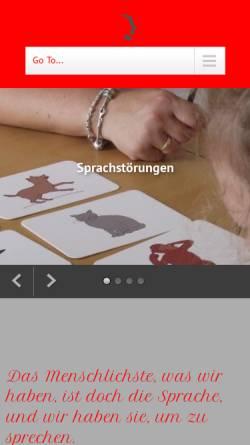 Vorschau der mobilen Webseite www.logopaedie-roeser.de, Daniela-Kathleen Röser