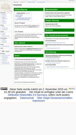 Vorschau der mobilen Webseite geowissenschaften.stugen.uni-bremen.de, StugA Geowissenschaften der Universität Bremen