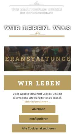 Vorschau der mobilen Webseite www.wachtenburg-winzer.de, Wachtenburg-Winzer eG.