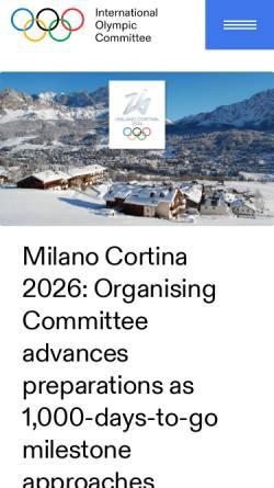 Vorschau der mobilen Webseite www.london2012.com, Olympische Spiele 2012