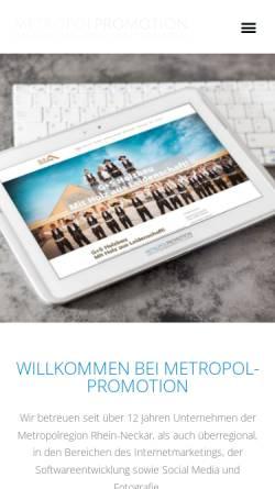 Vorschau der mobilen Webseite www.metropol-promotion.de, Metropol Promotion, Maximilian Ernst
