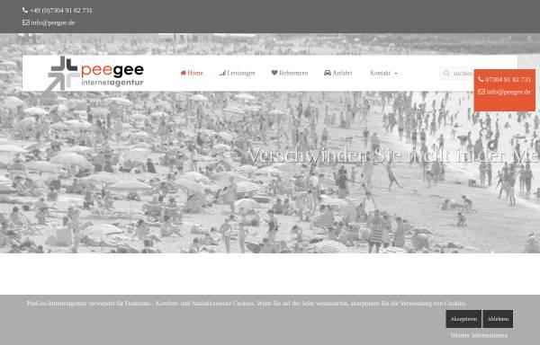 Vorschau von www.peegee.de, PeeGee-Internetservice, Peter Gebhardt