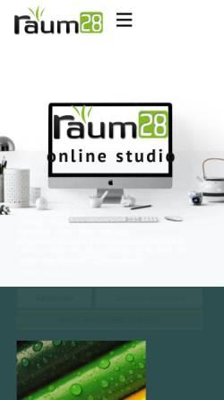 Vorschau der mobilen Webseite www.raum28.de, Raum28, Karsten Kreyer
