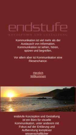 Vorschau der mobilen Webseite www.endstufe-kg.de, Endstufe, Heike Ludwig