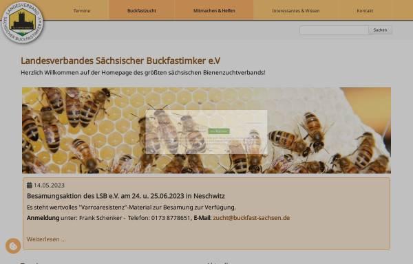 Vorschau von buckfast-sachsen.de, Landesverband Sächsischer Buckfastimker e.V.