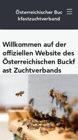 Vorschau der mobilen Webseite www.buckfast.at, Österreichische Buckfastvereinigung