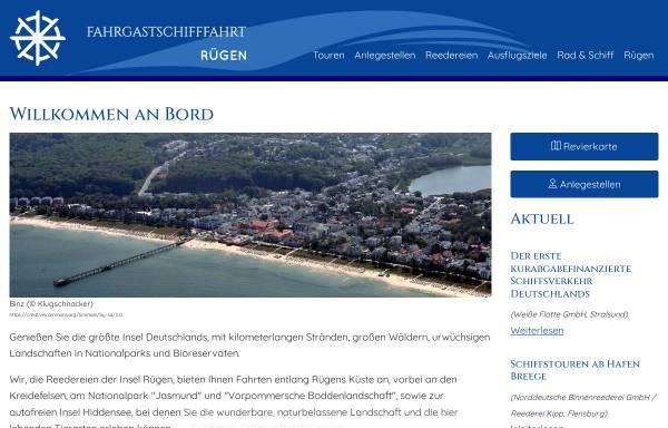 Vorschau von www.ruegen-schifffahrt.de, Fahrgastschifffahrt Rügen