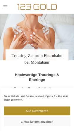 Vorschau der mobilen Webseite www.juwelier-lieser-lotz.de, Juwelier Martina Lieser