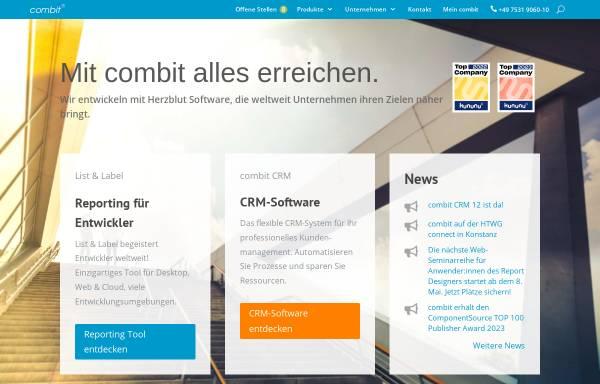 Vorschau von www.combit.net, combit Software GmbH
