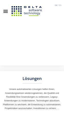 Vorschau der mobilen Webseite delta-software.com, Delta Software Technology GmbH
