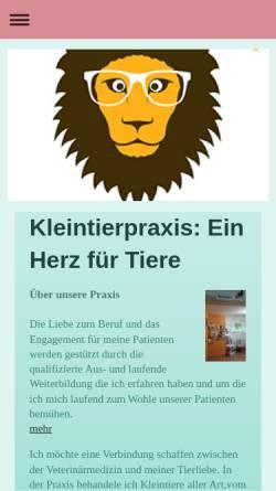 Vorschau der mobilen Webseite kleintierpraxis-bickelmann-rheinberg.de, Kleintierpraxis Dr. Ulrike Bickelmann