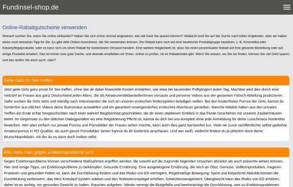 Vorschau von www.fundinsel-shop.de, Fundinsel-Shop, Sabine Sütterlin