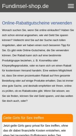 Vorschau der mobilen Webseite www.fundinsel-shop.de, Fundinsel-Shop, Sabine Sütterlin