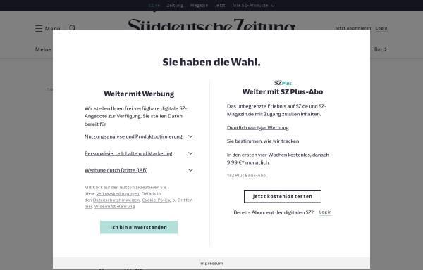 Vorschau von www.sueddeutsche.de, Vom Dissidenten zum Dichterpräsidenten