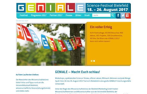 Vorschau von www.geniale-bielefeld.de, Geniale Bielefeld 2011