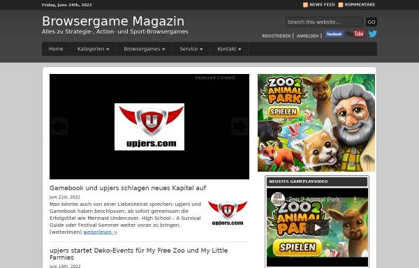 Vorschau von www.browsergame-magazin.de, Browsergame Magazin