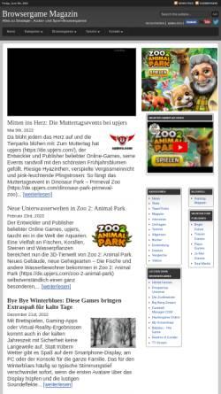 Vorschau der mobilen Webseite www.browsergame-magazin.de, Browsergame Magazin