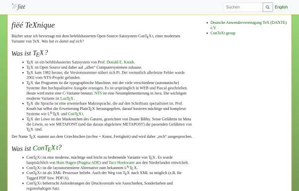 Vorschau von www.fiee.net, Fiëé TeXnique