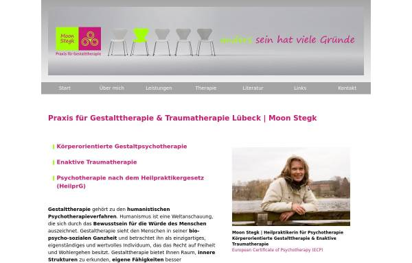 Vorschau von www.gestalttherapie-luebeck.de, Praxis für Gestalttherapie Moon Stegk