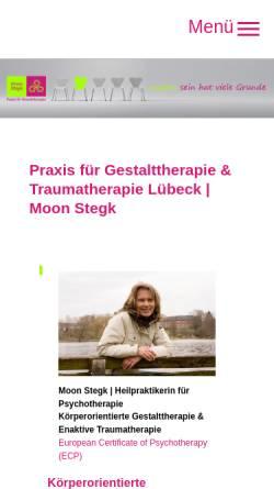 Vorschau der mobilen Webseite www.gestalttherapie-luebeck.de, Praxis für Gestalttherapie Moon Stegk