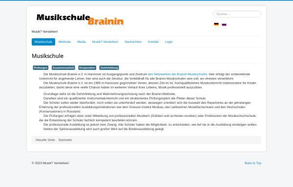 Vorschau von musikschule-1.de, Musikschule Brainin