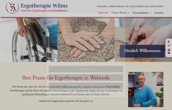 Vorschau von ergotherapie-wilms.de, Praxis für Ergotherapie Vigo Wilms