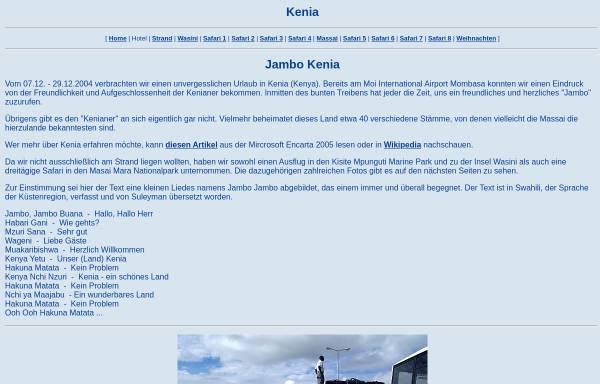 Vorschau von www.gregor-jonas.de, Kenias Küste und die Masai Mara [Gregor Jonas]