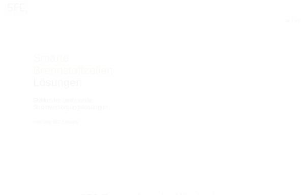 Vorschau von www.sfc.com, SFC Energy AG