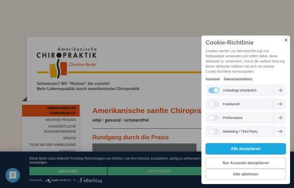 Vorschau von www.christina-reuter.de, Ganzheitliche Rückentherapie Christina Reuter